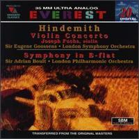Joseph Fuchs / Eugene Goossens / Adrian Boult - Paul Hindemith: Violin Concerto; Symphony in E-Flat