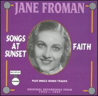 Jane Froman - Songs at Sunset